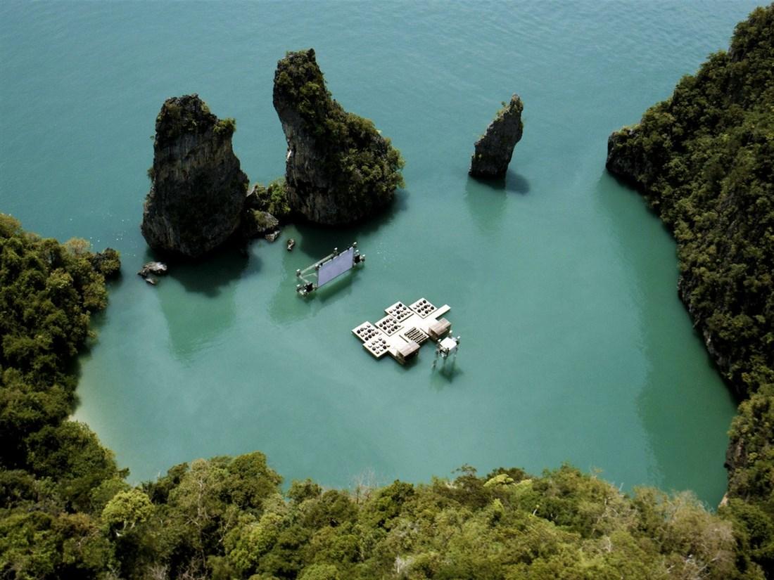سینمای شناور در پوکت تایلند