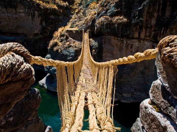 پل طنابی Q'eswachaka پرو